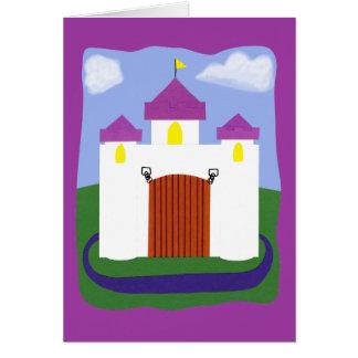 Castle Fairytale with Purple Turrets Card