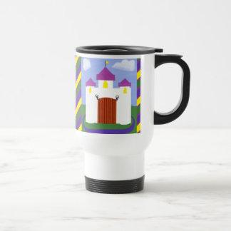 Castle Fairytale with Purple Turrets 15 Oz Stainless Steel Travel Mug