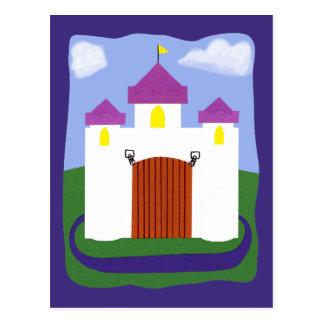 Castle Fairytale with Purple Turrets Postcards