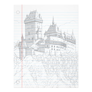 Castle Fantasy Notebook Paper