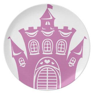 Castle for princess plates