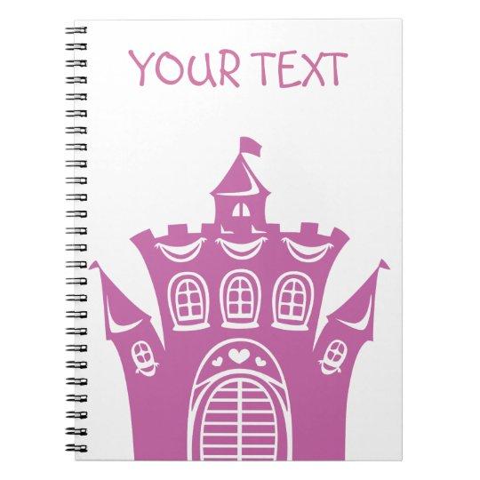 Castle for princess spiral notebook