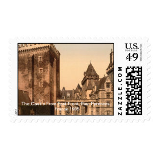 Castle From East Front, Pau, Pyrenees, France 1905 Postage