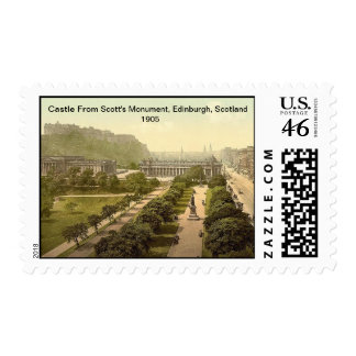 Castle From Scott's Monument, Edinburgh, Scotland Postage