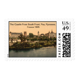 Castle From South Front, Pau, Pyrenees,France 1905 Postage