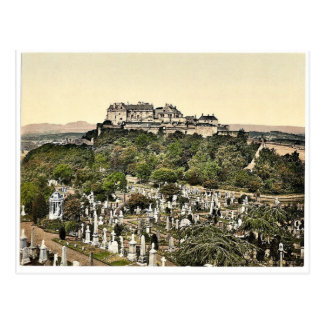 Castle from tower, Stirling, Scotland classic Phot Postcard