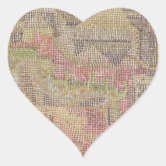 Castle Garden by Paul Klee Heart Sticker