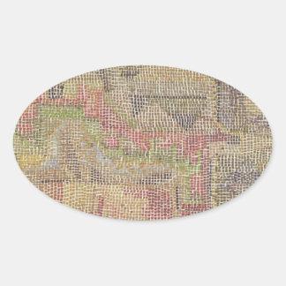Castle Garden by Paul Klee Oval Sticker