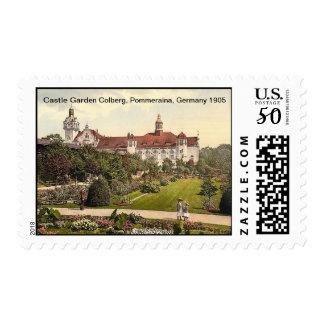 Castle Garden Colberg, Pommeraina, Germany 1905 Postage