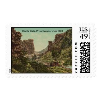 Castle Gate, Price Canyon, Utah 1898 Postage Stamp