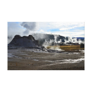 Castle Geyser and Upper Geyser Basin Yellowstone Gallery Wrapped Canvas