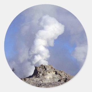 Castle Geyser eruption, Upper Geyser Basin, Yellow Stickers