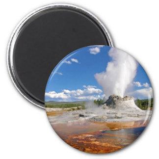 Castle Geyser Eruption Yellowstone National Park. Fridge Magnets
