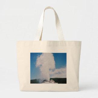 Castle Geyser Large Tote Bag