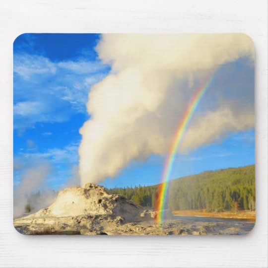 Castle Geyser Rainbow Mouse Pad