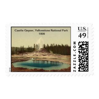 Castle Geyser, Yellowstone National Park 1898 Stamp