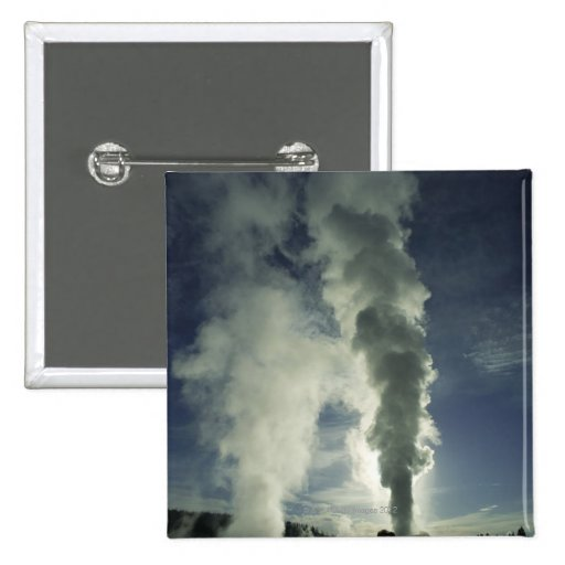 Castle Geyser ,Yellowstone National Park 2 Inch Square Button