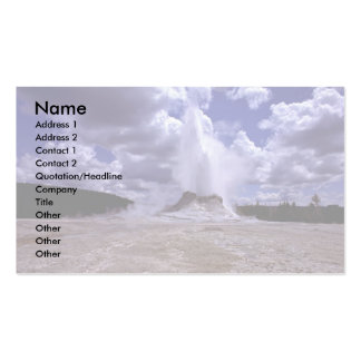 Castle Geyser, Yellowstone National Park Business Card