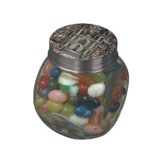 Castle Glass Jar