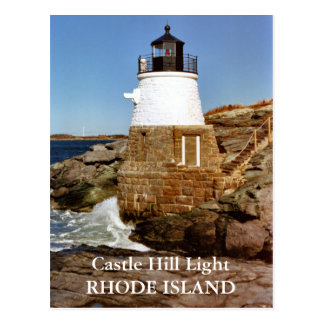 Castle Hill Light, Rhode Island Postcard