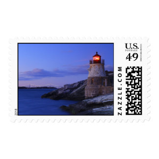 Castle Hill Lighthouse and Newport Bridge Postage Stamp