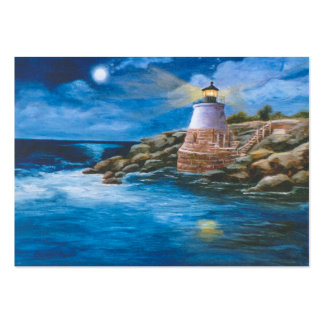 Castle Hill Lighthouse Art Card Large Business Card