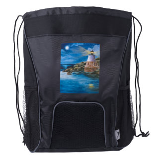 Castle Hill Lighthouse Drawstring Backpack