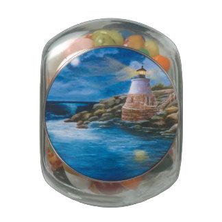 Castle Hill Lighthouse Glass Jars