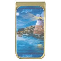 Castle Hill Lighthouse Gold Finish Money Clip