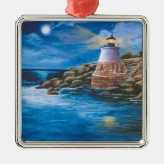 Castle Hill Lighthouse Metal Ornament