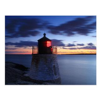 Castle Hill Lighthouse Newport Rhode Island Postcard
