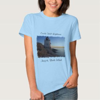 Castle Hill Lighthouse Newport RI Ladies Tee Shirt