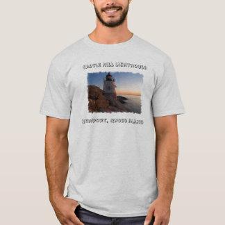 Castle Hill Lighthouse, Newport  RI Mens Tee Shirt