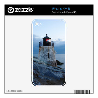 Castle Hill Lighthouse Newport, RI skin Skins For iPhone 4S
