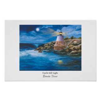 Castle Hill Lighthouse Poster