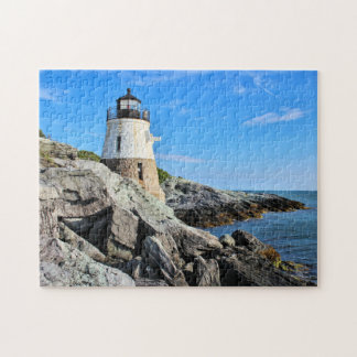 Castle Hill Lighthouse, Rhode Island Jigsaw Puzzle