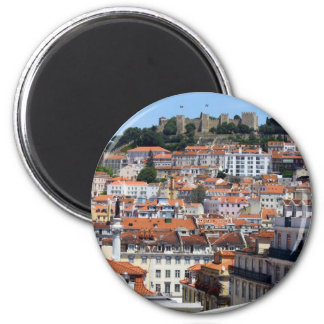 Castle Hill, Lisbon, Portugal 2 Inch Round Magnet