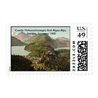 Castle Hohenschwangau & Algau Alps,Bavaria,Germany Postage