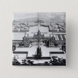Castle Howard, from 'Vitruvius Britannicus' Pinback Button