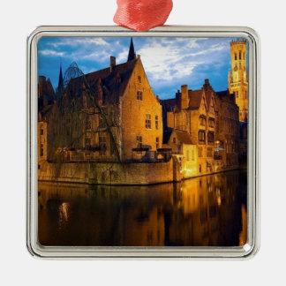 Castle in Belguim Metal Ornament