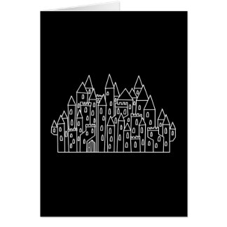 Castle in Black and White. Card