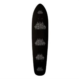 Castle in Black and White. Skateboard Deck