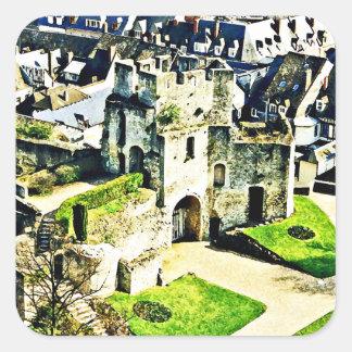 Castle in France near Paris Square Sticker