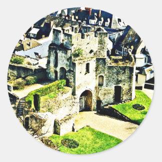 Castle in France near Paris Round Sticker