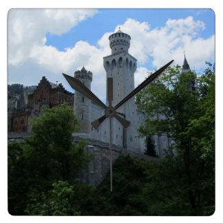 Castle in Hohenschwangau, Germany Square Wall Clock