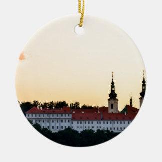 Castle in Prague Ceramic Ornament