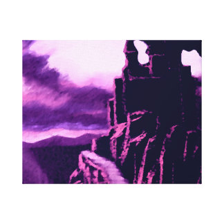 Castle in Purple Fantasy Mystical Art Gallery Wrap Canvas