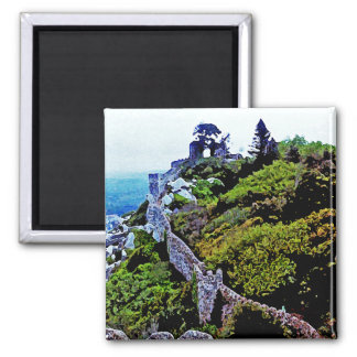 Castle in Sintra Portugal 2 Inch Square Magnet
