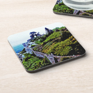 Castle in Sintra Portugal Beverage Coasters