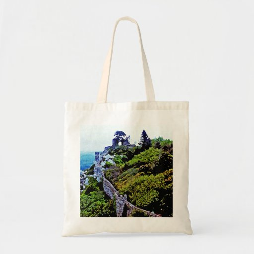 Castle in Sintra Portugal Budget Tote Bag